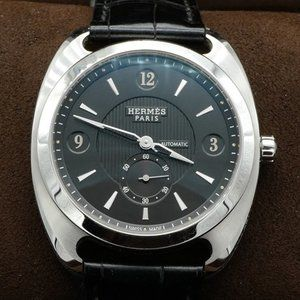 Hermes Dressage leather strap automatic watch